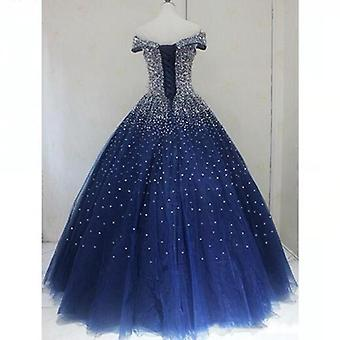 Full Crystal Beads Party Dress