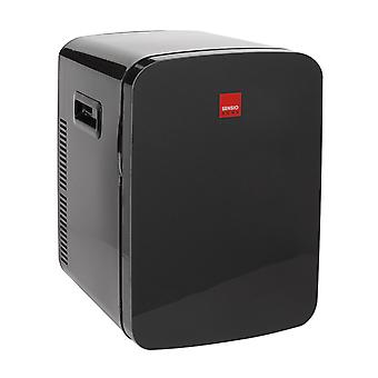 Sensio Home 15L Mini Fridge Cooler & Warmer | AC+DC Power - 12v, UK & EU Plug | Compact, Portable and Quiet (Midnight Black)