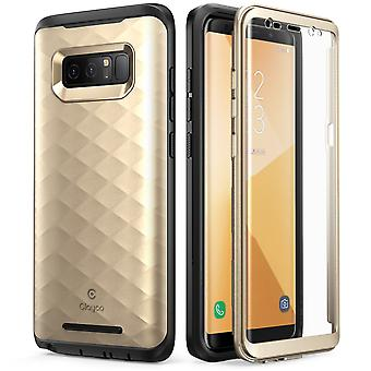 Galaxy Note 8 Case, Clayco Hera Series Full-body Rugged Case-Gold