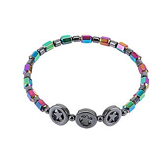 Weight Loss, Round Mixed Color, Stone Magnetic Therapy, Bracelet Health Care