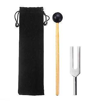 2048HZ Tuning Fork Chakra Hammer Ball + Mallet + Bag Musical Instrument