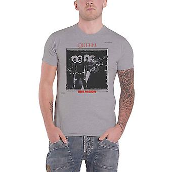 Queen T Shirt One Vision Japan Tour 85 Band Logo nuevo Official Grey