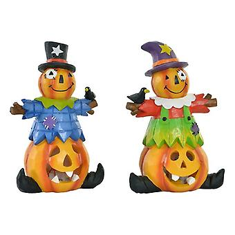Halloween Decorations DKD Home Decor Resin Pumpkin (11 x 7 x 17 cm) (2 pcs)