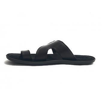 Men's Shoes Elite Slipper Finger Black Suede Craft Us17el26