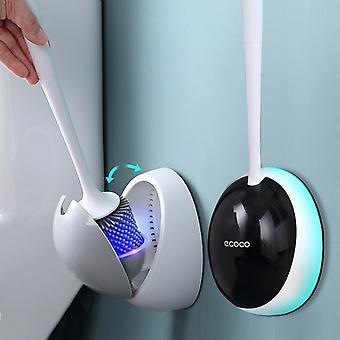 Cepillo de inodoro de silicona para accesorios de WC Cepillo de inodoro drenable Herramientas de limpieza montadas en la pared Inicio Conjuntos de accesorios de baño