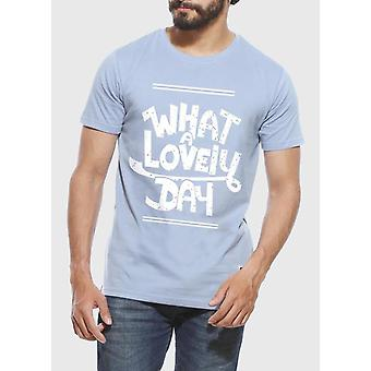 What A Lovely Day - T-shirt Bleu Yale Homme