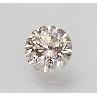 Cert 0.92 Carat Top Ljusbrun SI2 Rund Briljant Förbättrad Naturlig Diamant 6.18mm