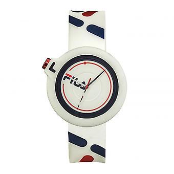 MIXED horloges FILA 38-6081-006 - Witte Siliconen Armband