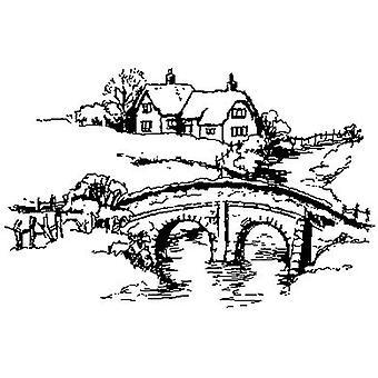 Timbro montato sul legno della scena del ponte