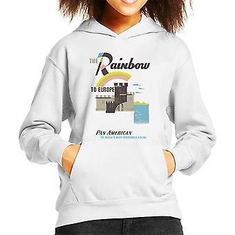 Pan Am The Rainbow To Europe Kid's Hooded Sweatshirt