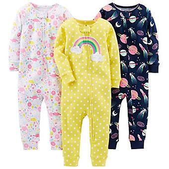 Enkle gleder av Carter's Baby Girls' 3-Pack Snug Fit Footless Cotton Pyjamas, ...