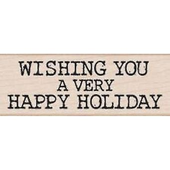 Hero Arts Very Happy Holiday Rubber Stamp