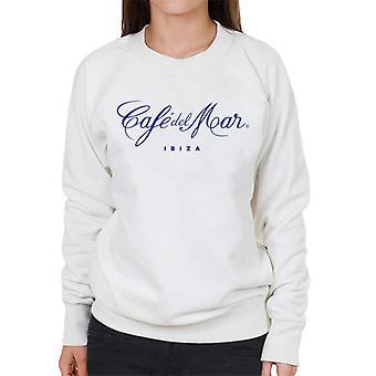Cafe del Mar Classic Blue Logo Women's Sweatshirt