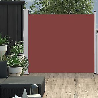 vidaXL Extendable side awning 100x300 cm Brown