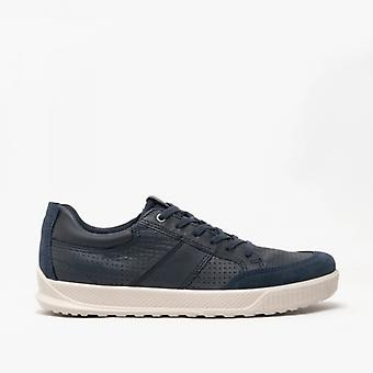 ECCO Byway Mens Leather Trainers Marine