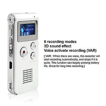 Akumulator cyfrowy Dyktafon MP3 8 GB