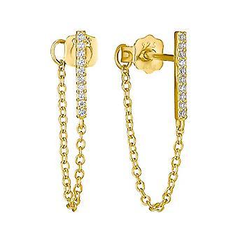 Amor - Kvinnors örhängen i silver 925 guldpläterade med zirkoner