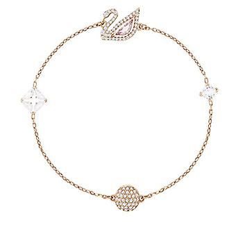 Swarovski Dazzling Swan bracelet, multicolored, Rose Gold Plated(3)