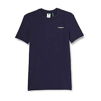 G-STAR RAW Slim Base Short Sleeve T-shirt, Blå (Sartho Blue C723-6067), XS Herr