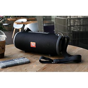 Black bluetooth speaker 20W portable sound column speaker music player sound column radio subwoofer