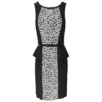 Frank Lyman Monochrome Sleeveless Peplum Dress