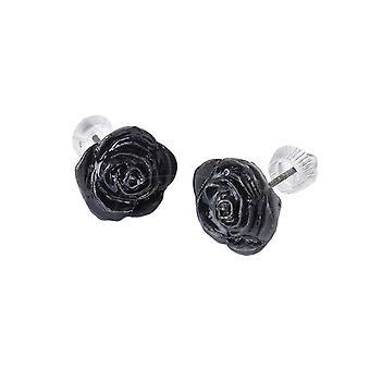 Alchemy - BLACK ROSE - Stud Earrings
