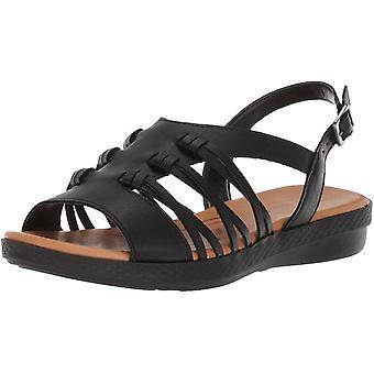 Easy Street Women's MADBURY Flat Sandal, Zwart, 9.5 M US