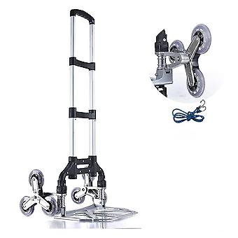 Folding Hand Truck Dolly Stair Climbing Cart Aluminum Alloy Portable With