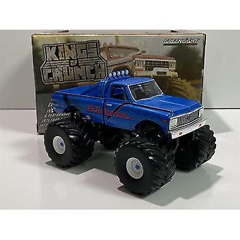 1972 Chevrolet K-10 Monster Truck 66 tum däck utrotare 1:43 Greenlight