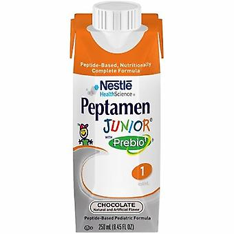Nestle Healthcare Nutrition Oral Supplement / Tube Feeding Formula Peptamen Junior with Prebio 1 Chocolate Flavor 250 mL Contai, Case of 24