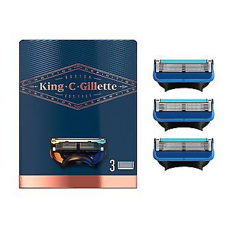 Gillette Gillette King Parranajo & Edging Partakoneenterät X 3 patruunaa miehille