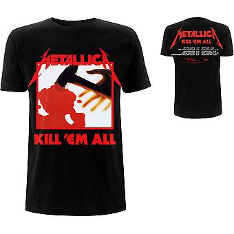Metallica - Kill 'Em All Tracks T-Shirt X-Large pour hommes - Noir