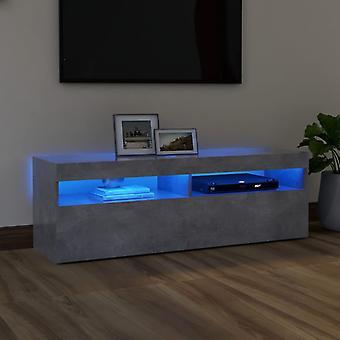 vidaXL TV-kaappi LED-valoilla betoni harmaa 120x35x40 cm