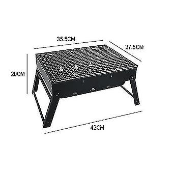 Stainless Steel Foldable Portable Barbecue Grill Charcoal Grill Outdoor Barbecue Grill Consumer And