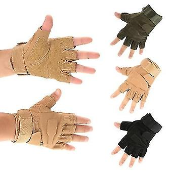 Bicycle bike gloves hard knuckle tactical gloves half finger sport shooting hunting riding motorcycle
