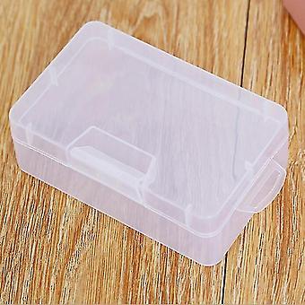 Ammattimainen monitoiminen säilytys läpinäkyvä suorakaiteen muotoinen muovilukko