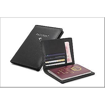 Paspoorthouder in pu leer (zwart)