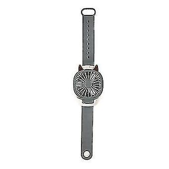 Portable USB Wrist Fan Mini Watch Fan Ventilator LED Light Fans Enfants Enfants (Gris)
