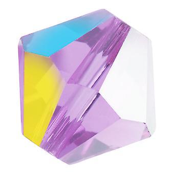 Preciosa Tšekin kristalli, Bicone Bead 6mm, 24 Pieces, Violet AB
