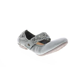 Terre Adulte Femmes Pilote Tumbled Cuir Mary Jane Flats