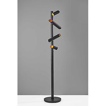 This Way That Way Black Metal LED Floor Lamp