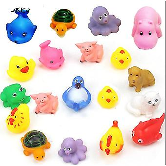 10pcs Wash Play Animals Soft Rubber Float Sqeeze Sound Bath For Toddlers