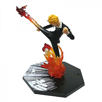 Hywell Pirate/one Piece Fire Fist Luffy Fire Fist Ace Ghost Slash Sauron Demon Wind Foot Sanji Figure Boxed Ornaments