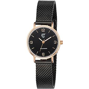 ONE (Eco Tech Time) Black Stainless Steel ELS-12081-22M Women's Watch