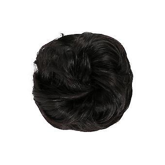 2 stk elastik med hår rodet bolle scrunchie chignon med elastikbånd hårstykker Donut For