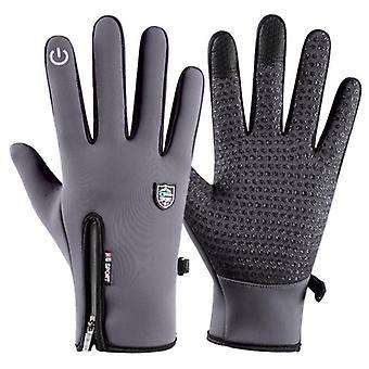 Gants d'hiver écran tactile résistant à l'eau thermique pour hommes et femmes