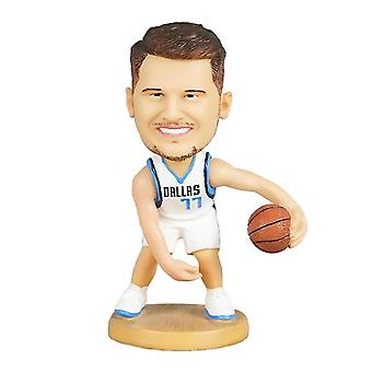 Qian Luka Doncic Figurine d'action Statue Bobblehead Basketball Doll Décoration