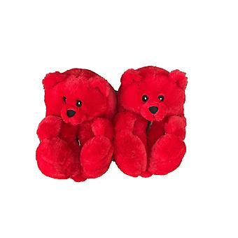 Bear Slippers Plush Home Indoor Warm Winter All Inclusive Children's Slippers