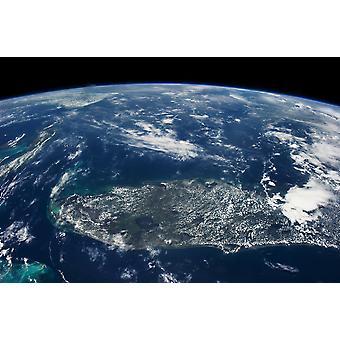 Käsitys maapallon avaruudesta osoittaa Florida Yhdysvallat Juliste Tulosta panoraamakuvat