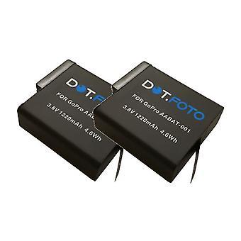 2 x Dot.Foto GoPro AABAT-001 sostituzione batteria - 3.8 v / 1220mAh - GoPro eroe5